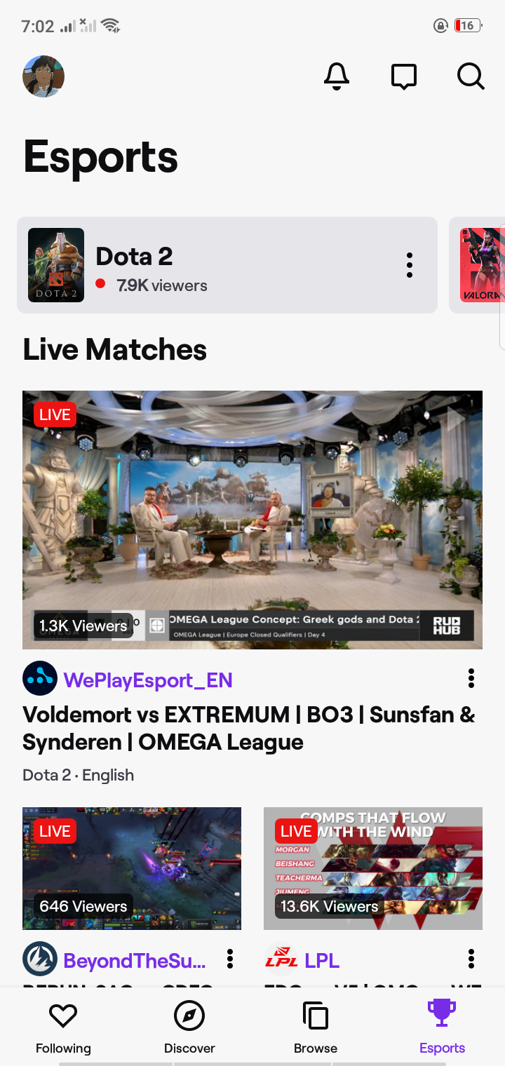 Esports on Android by Twitch from UIGarage