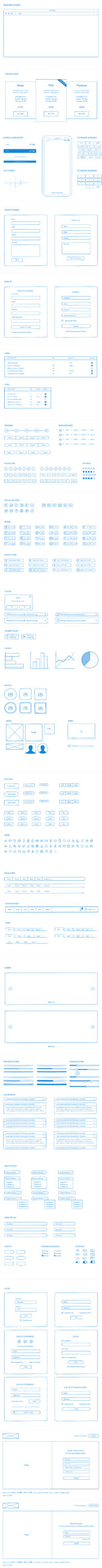 Hand Draw Wireframe UI Kit for Adobe XD from UIGarage