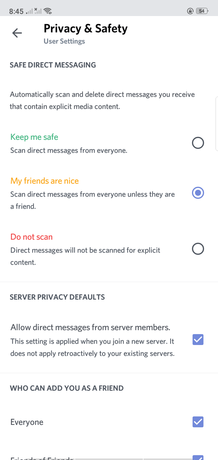 Privacy on Android by Discord from UIGarage
