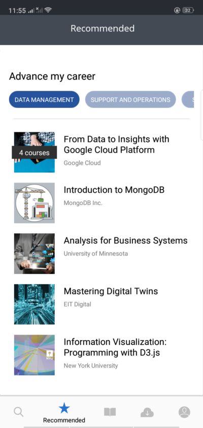 Recommended on Android by Coursera from UIGarage