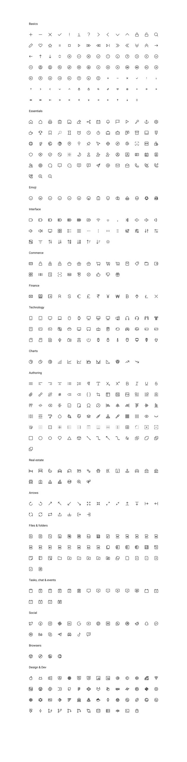 Teenyicons - Free Icon Set for Figma from UIGarage