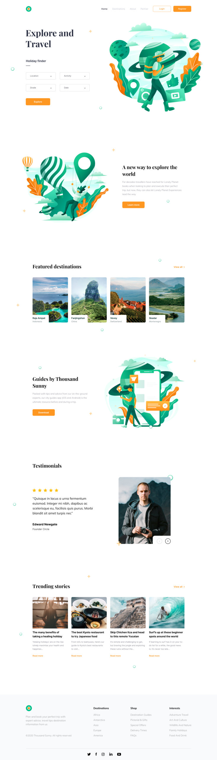 Tour and Travel Website for Figma from UIGarage