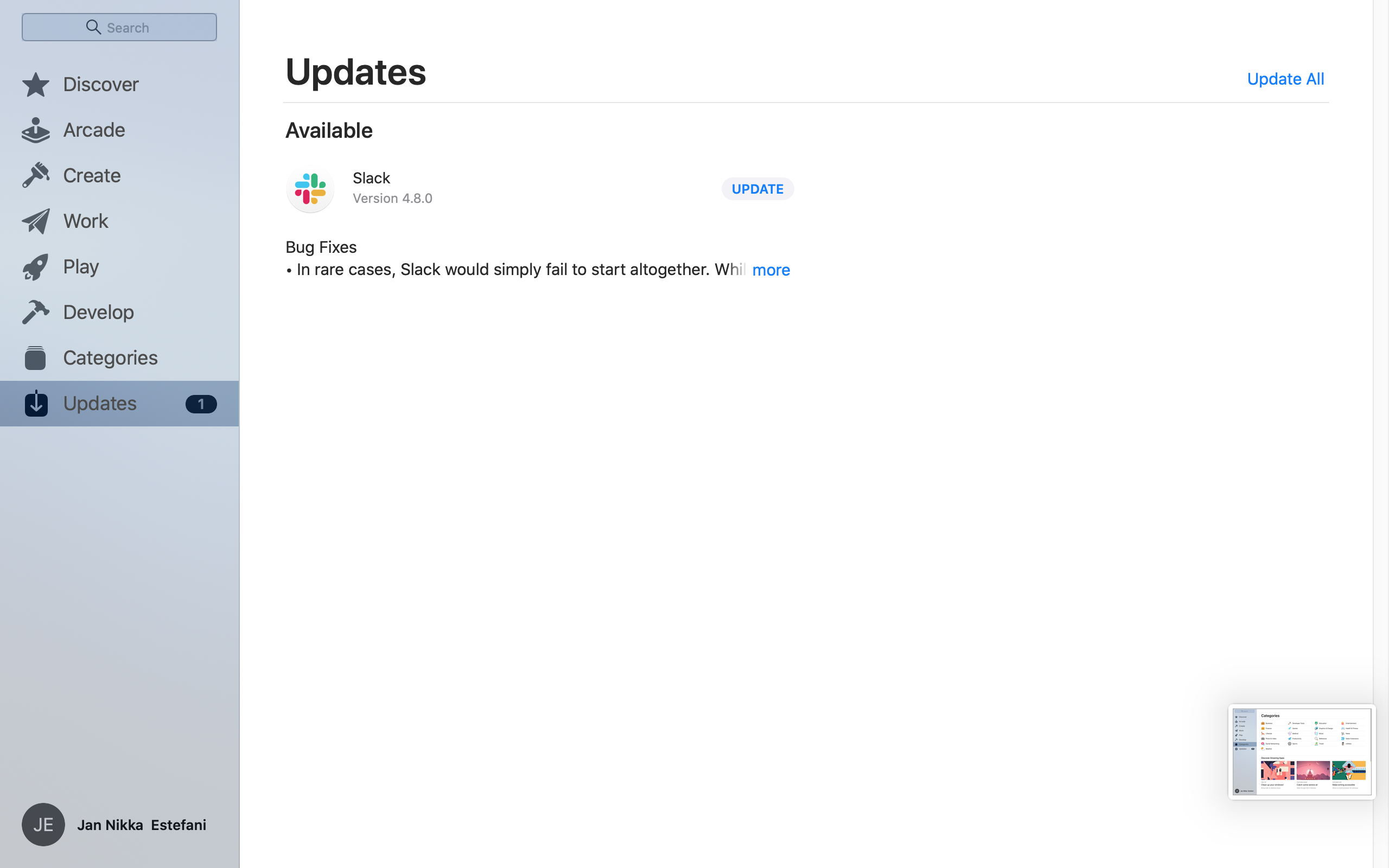 Updates on MacOS by App Store from UIGarage