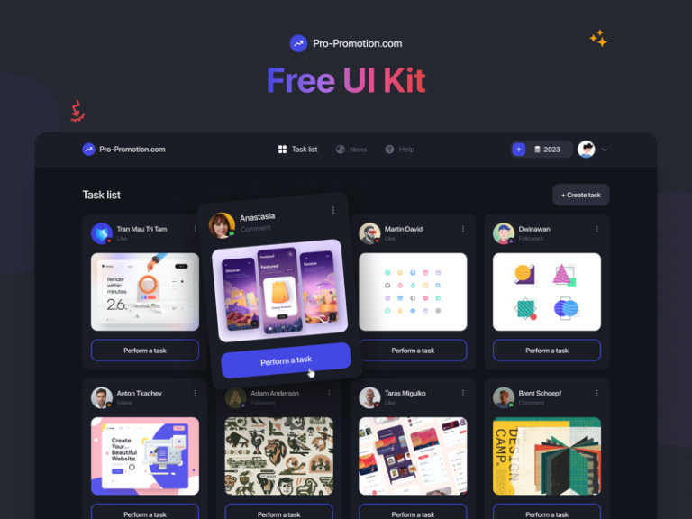 Web Service - Free UI Kit for Figma from UIGarage