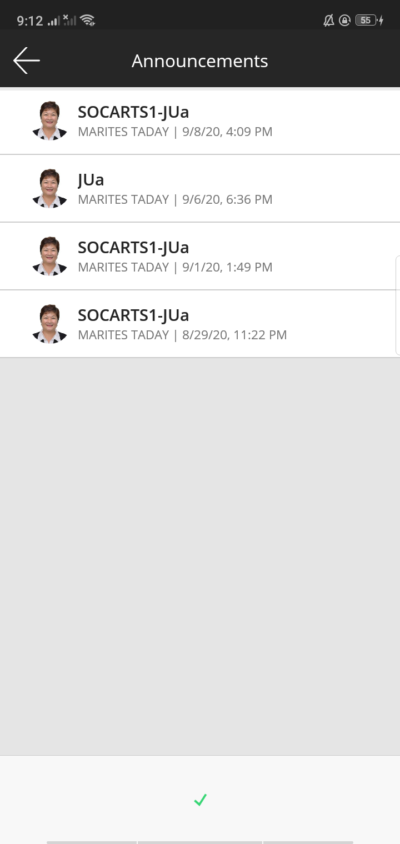 Announcements on Android by Blackboard from UIGarage