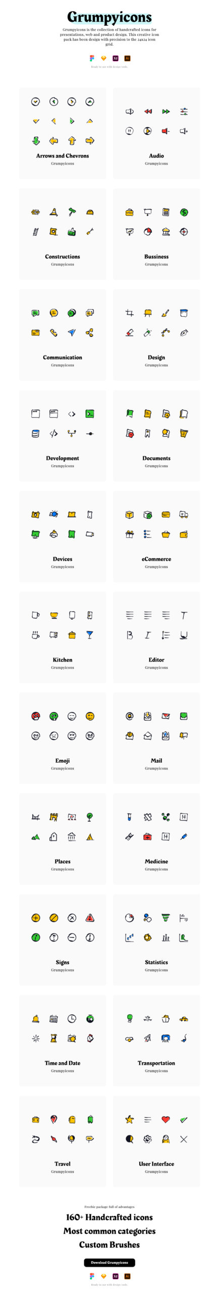 Grumpyicons Free Icons Pack from UIGarage