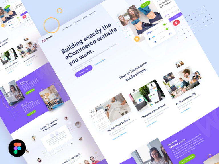 Woo Landing Page for Figma from UIGarage