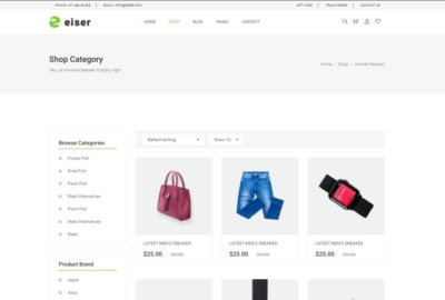Ecommerce on Web by Eiser from UIGarage