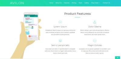 Features on Web by Avilon from UIGarage