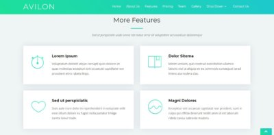 More Features on Web by Avilon from UIGarage
