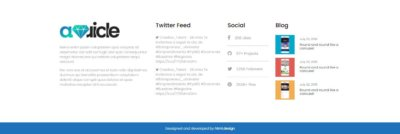 Footer on Web by Auricle free-css from UIGarage