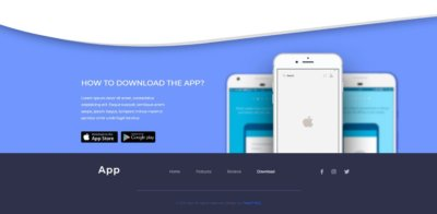 Footer on Web by App from UIGarage