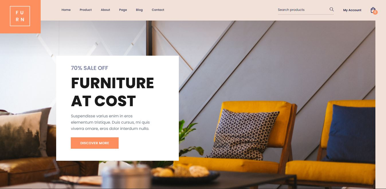 Home Page on Web by Furn from UIGarage