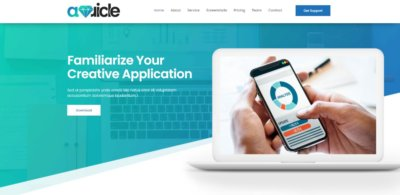 Homepage on Web by Auricle free-css from UIGarage