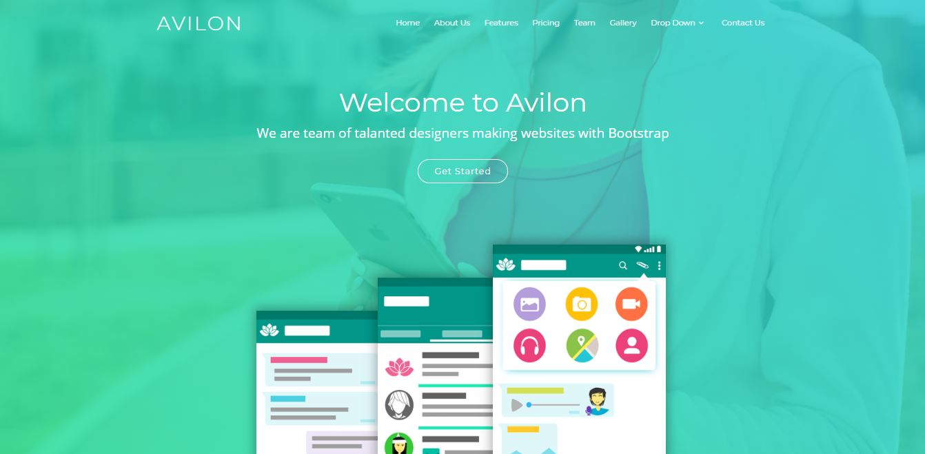 Homepage on Web by Avilon from UIGarage