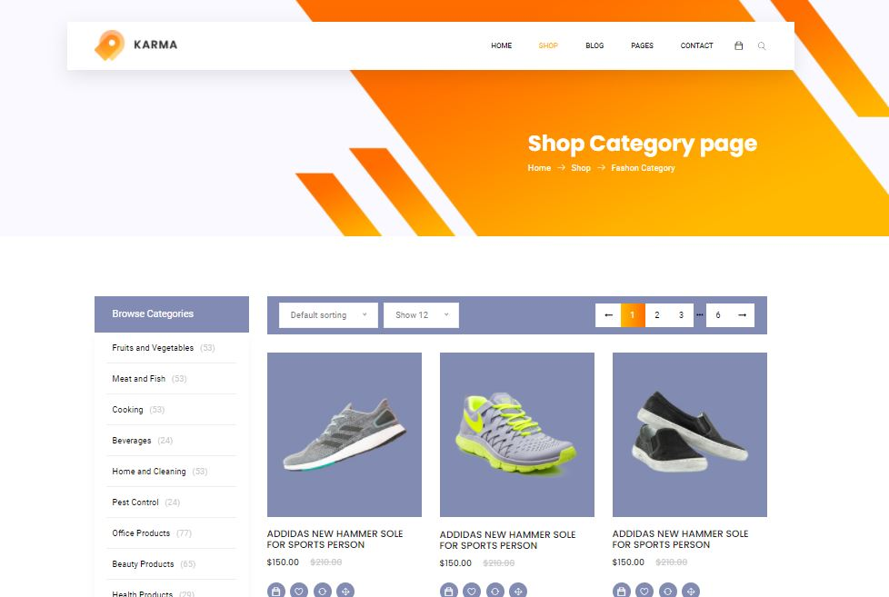 Ecommerce on Web by Karma from UIGarage