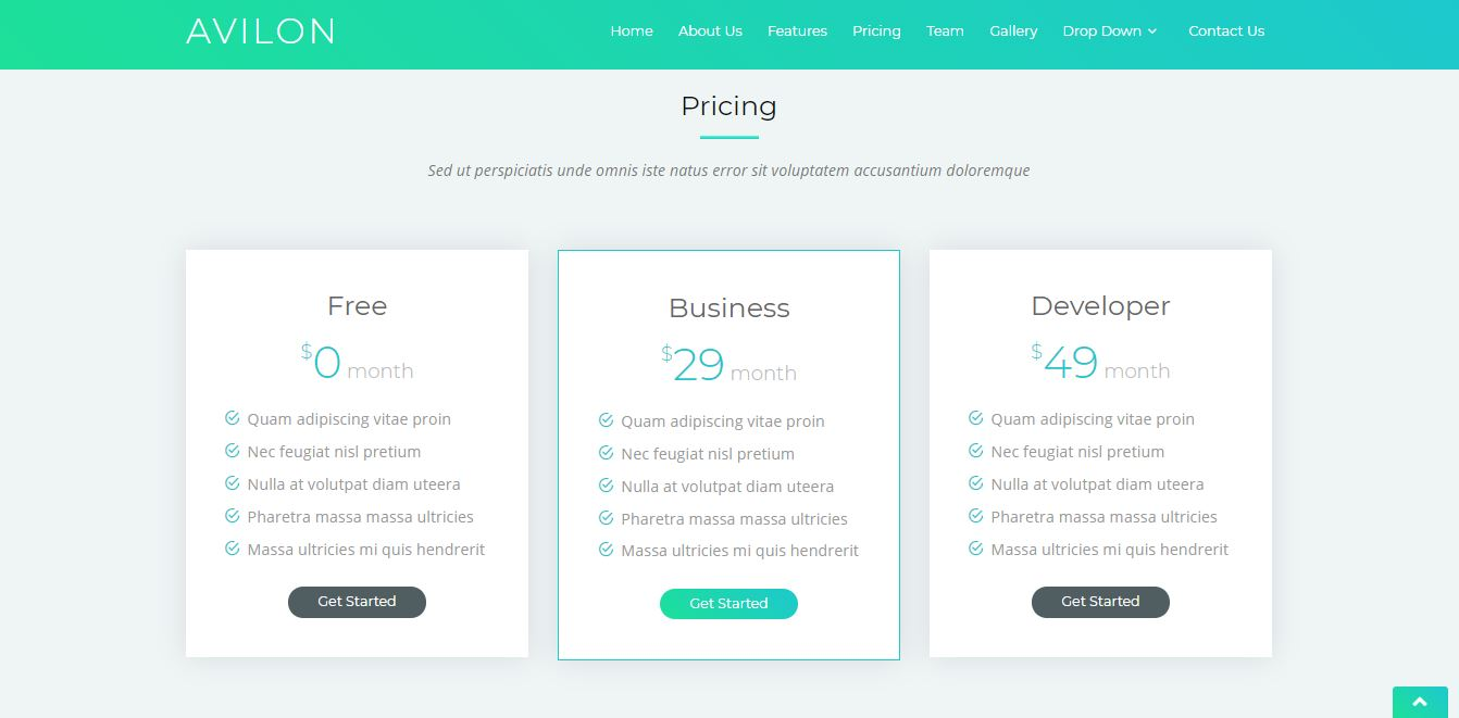 Pricing on Web by Avilon from UIGarage