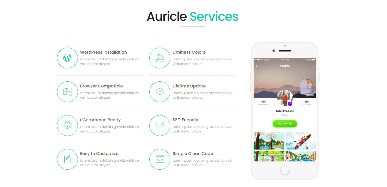Services on Web by Auricle free-css from UIGarage