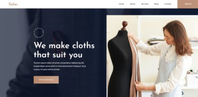 Home Page on Web by Tailor from UIGarage