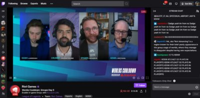 Live Streaming on Web by Twitch from UIGarage