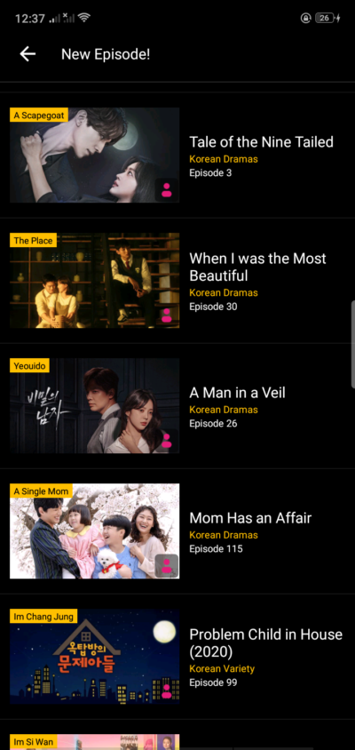 List on Android by Viu from UIGarage