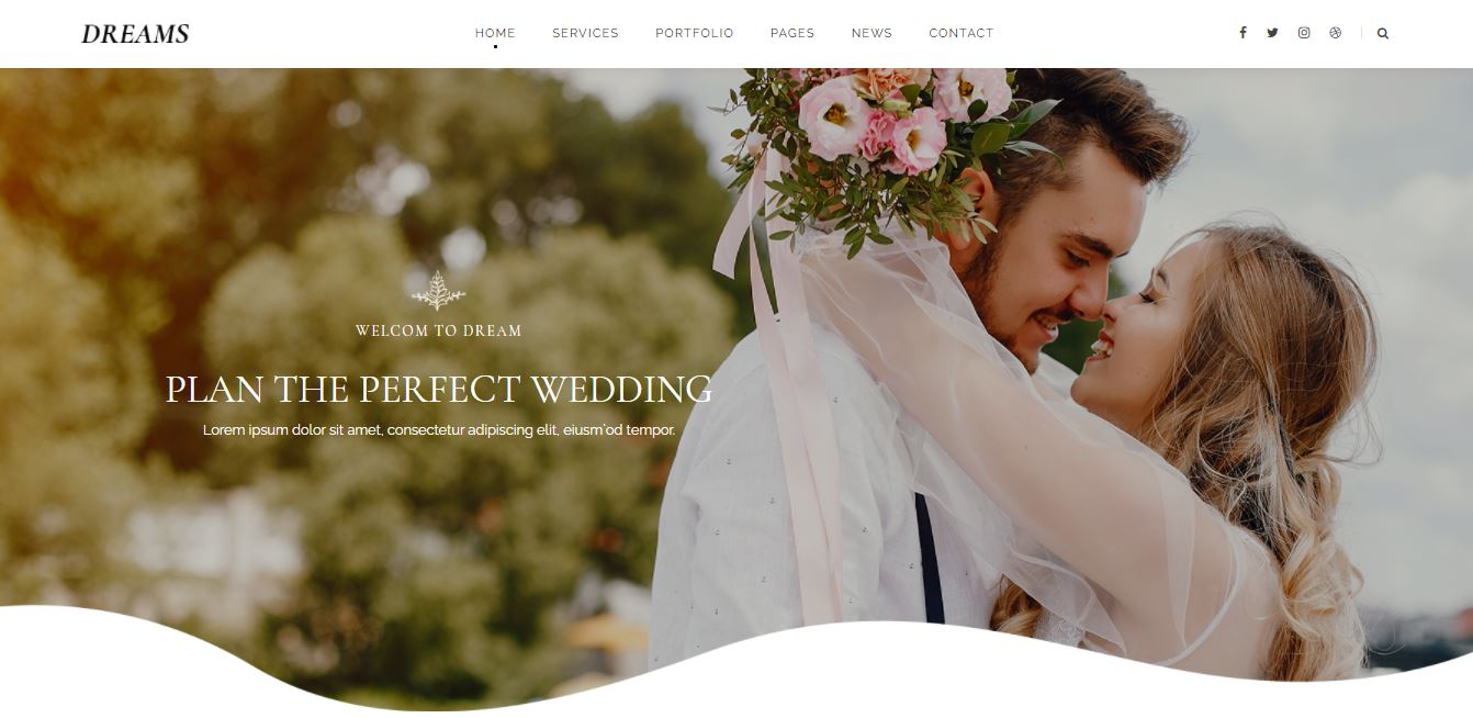 Home Page on Web by WeddingDreams from UIGarage