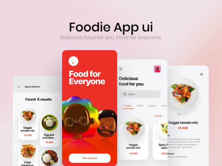 Food App Free UI Kit for Figma from UIGarage