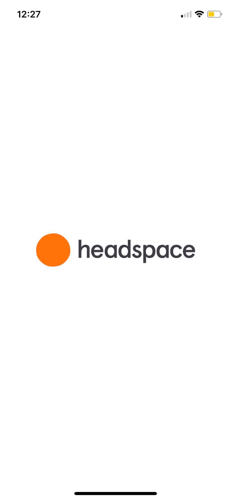 Launch Screen on iOS by Headspace from UIGarage