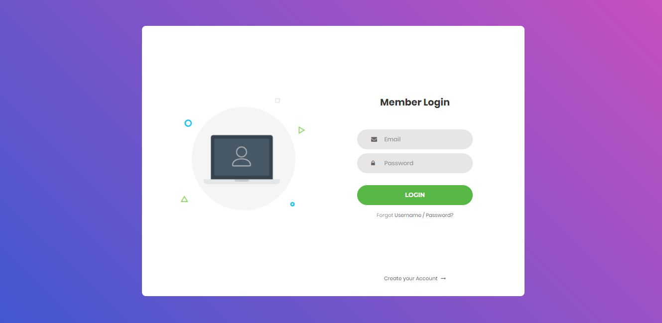 Log In on Web by ColorlibV4 from UIGarage