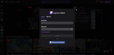Log In on Web by Twitch from UIGarage