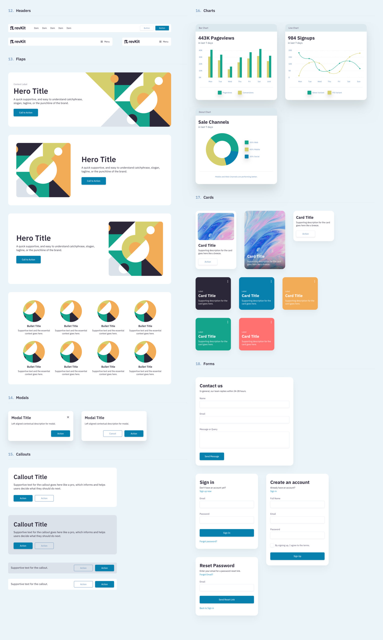 Revkit Design System UI Kit from UIGarage