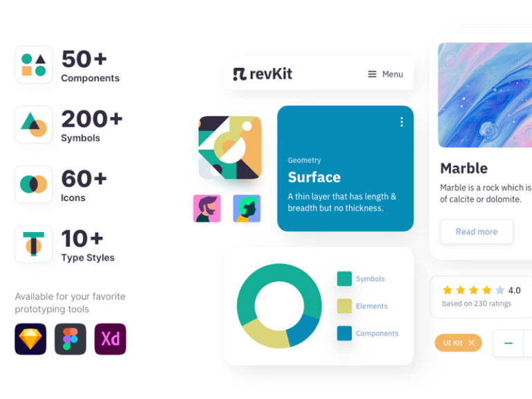 Revkit Design System UI Kit from UIGarage