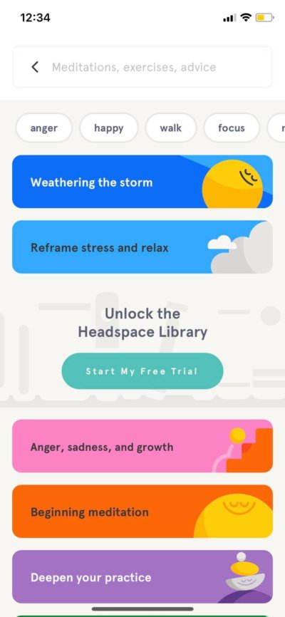 Search on iOS by Headspace from UIGarage