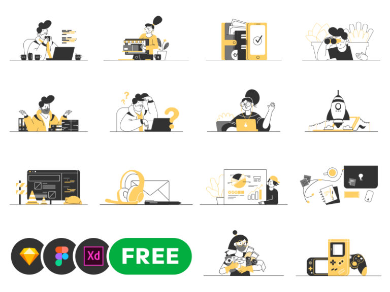Whoooa - Free Customizable Illustrations from UIGarage