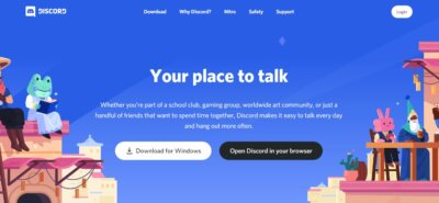 Landing Page on Web by Discord from UIGarage