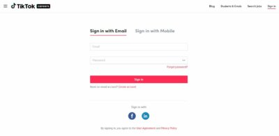 Login with Email on Web by TikTok from UIGarage