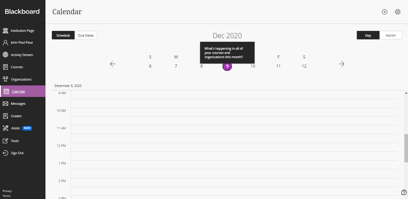Calendar on Web by Blackboard from UIGarage
