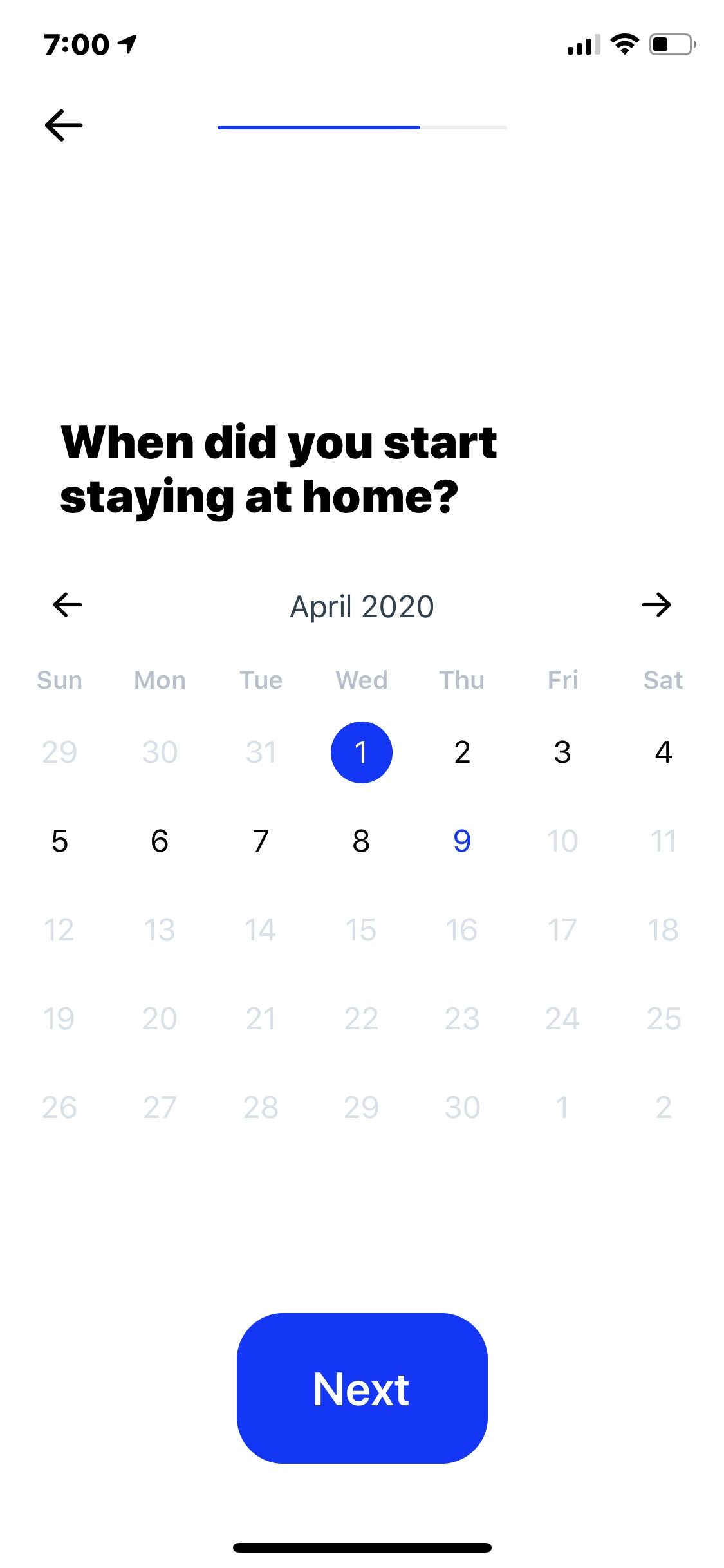 Calendar on iOS by How We Feel from UIGarage
