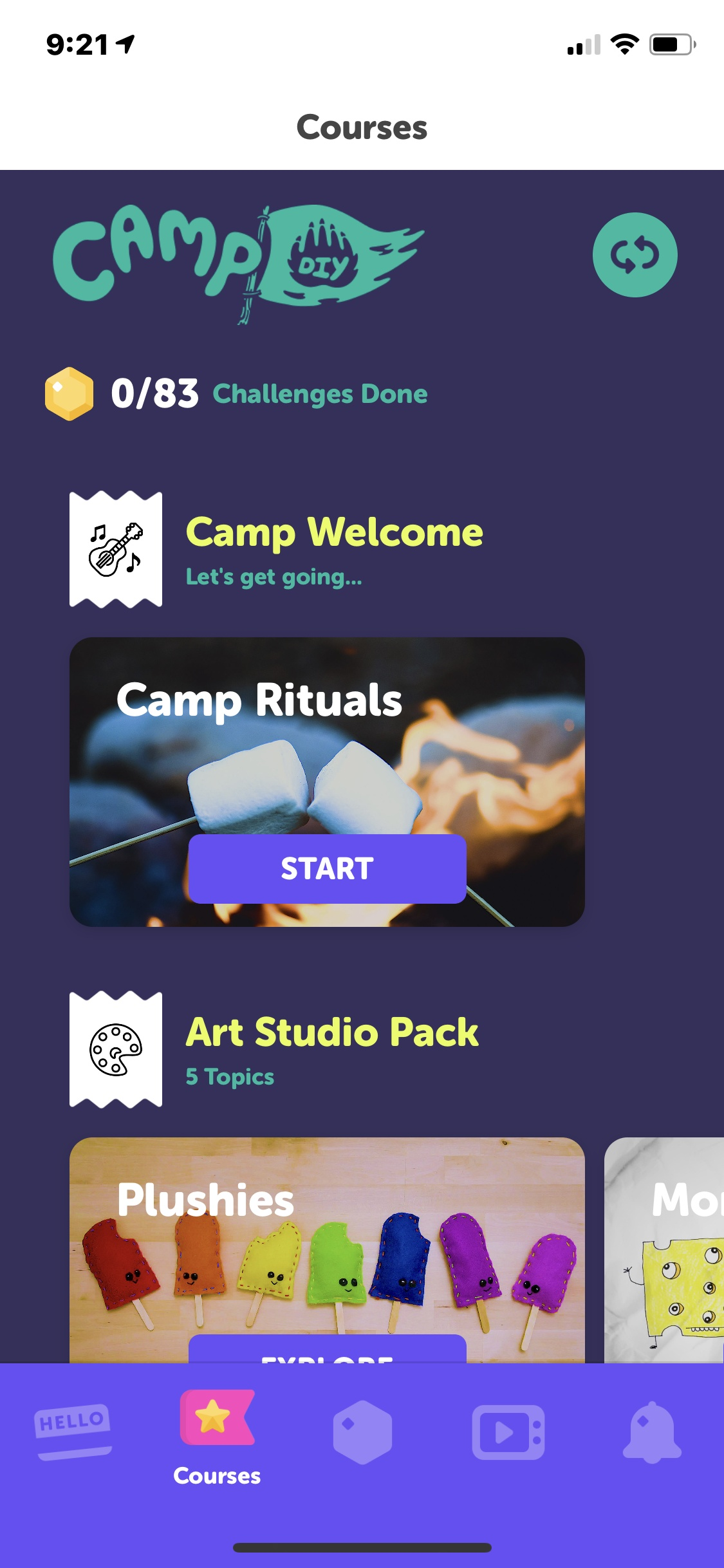 Camp on iOS by DIY.org from UIGarage