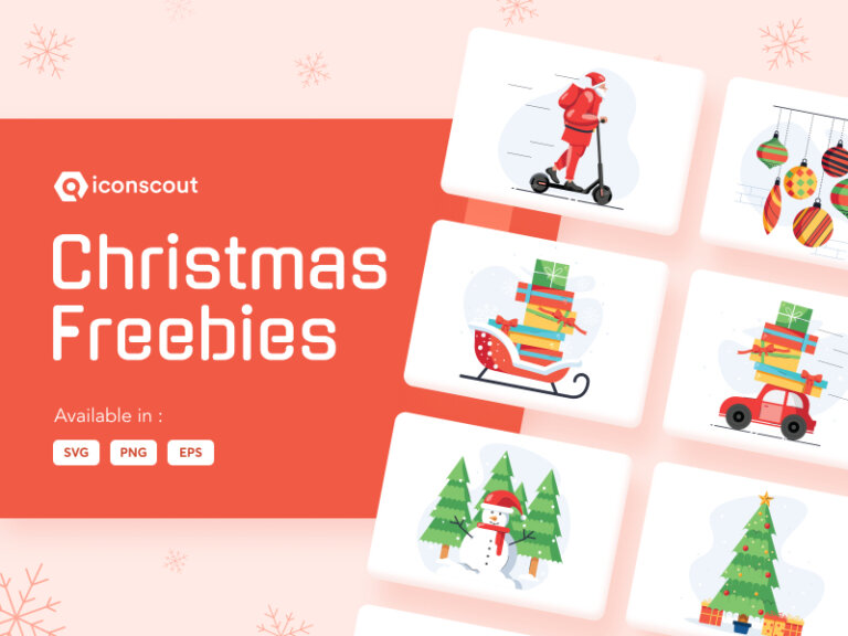 Christmas Free Illustration Pack from UIGarage