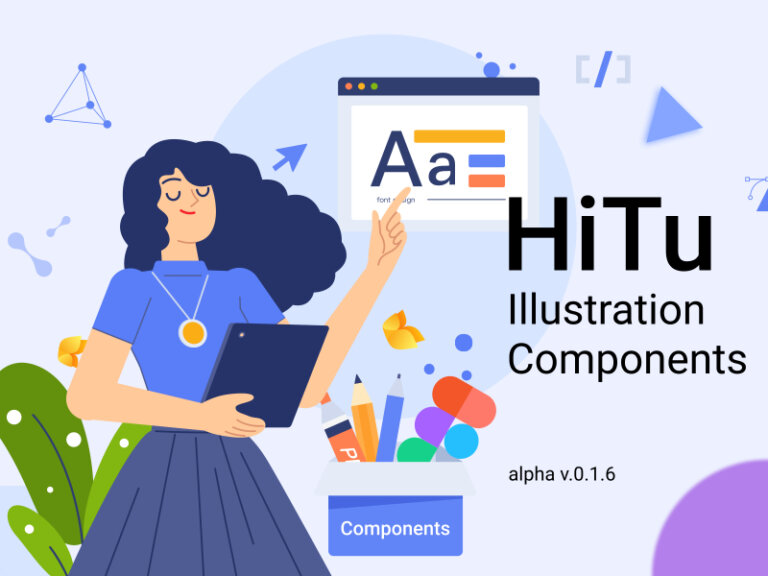 Hitu Free Illustration Components for Figma from UIGarage