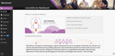 Homepage on Web by Blackboard from UIGarage