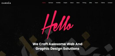 Homepage on Web by Cardea from UIGarage