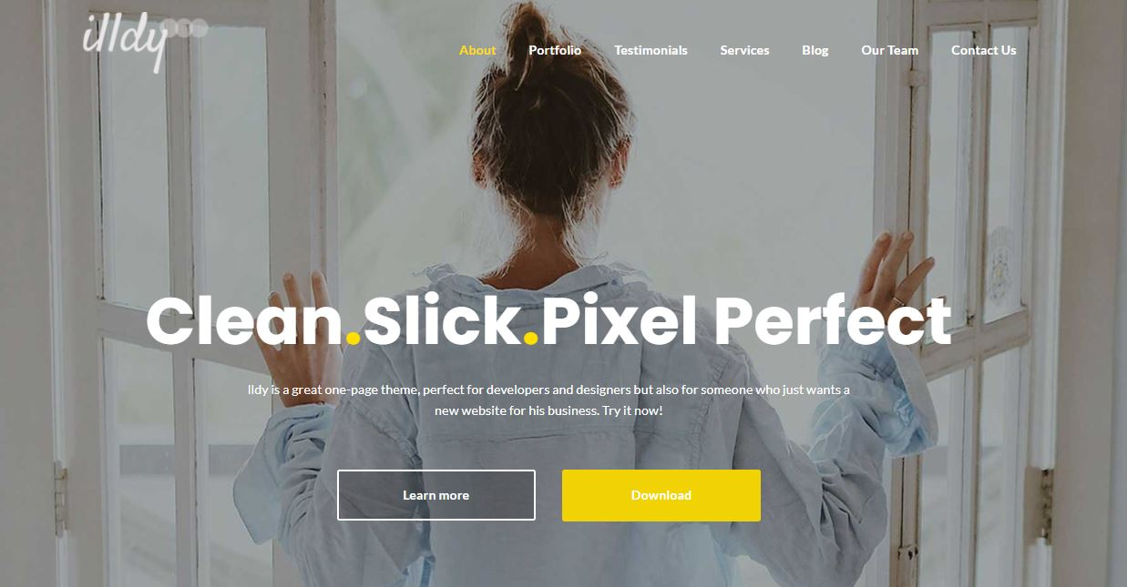 Landing page on Web by illdy from UIGarage