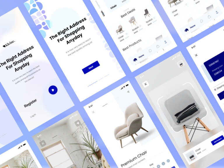 Kleine Free eCommerce UI Kit for Adobe XD from UIGarage