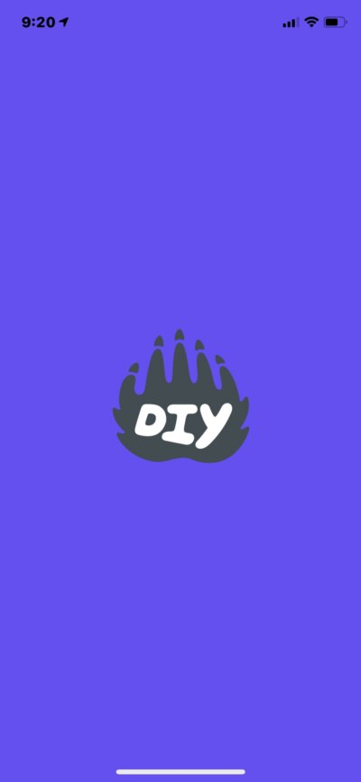 Launch Screen on iOS by DIY.org from UIGarage