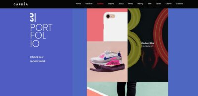 Portfolio on Web by Cardea from UIGarage