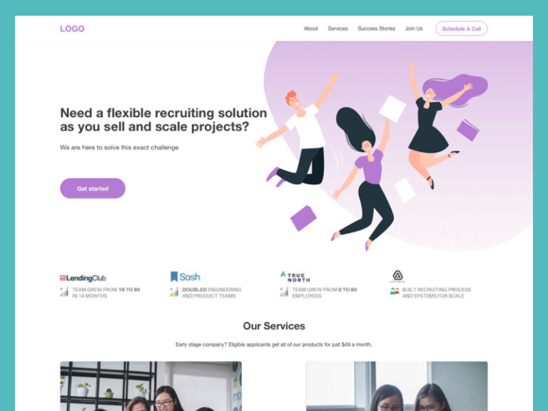 Recruitment Agency Free Landing Page from UIGarage