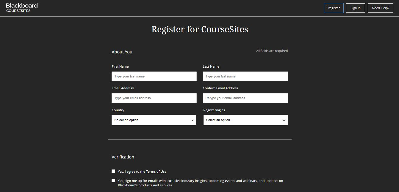 Sign up on Web by Blackboard from UIGarage