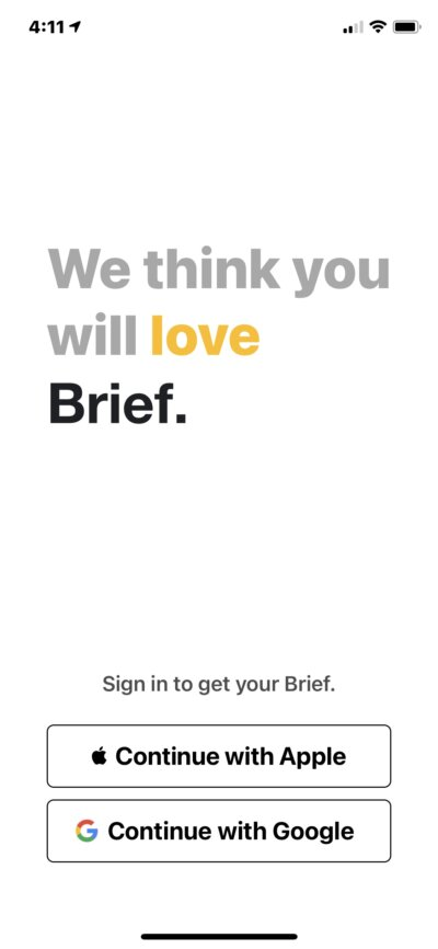 Sign In on iOS by Brief from UIGarage